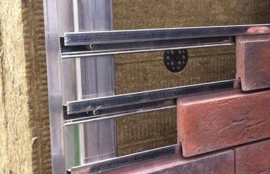Вентилируемый фасад из клинкерной плитки
