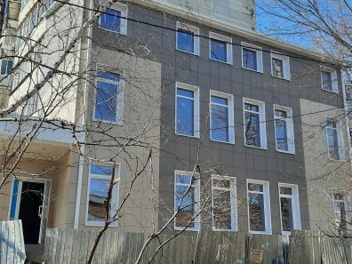 Навесной фасад торгово-офисного помещения в Воронеже