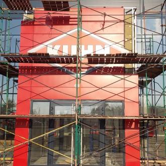 Облицовка входной группы фасадными кассетами в Воронеже