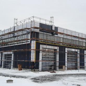 Вентилируемый фасад из композитных панелей автомоечного комплекса в г. Воронеж