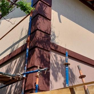 Штукатурный фасад частного дома с утеплением в Воронеже